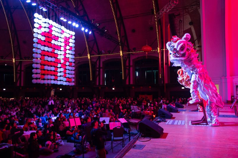 Chinese New Year celebration featuring live dance, music and other performances, plus traditional food, crafts and more at Aon Grand Ballroom in Navy Pier on Saturday, February 16, 2019.Photo: Abel Arciniega/for Choose Chicago
